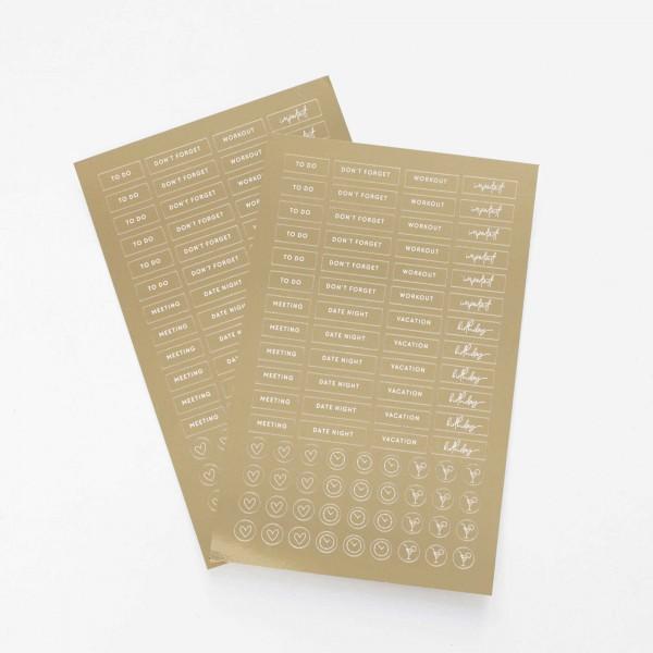 Sticker-Set Gold