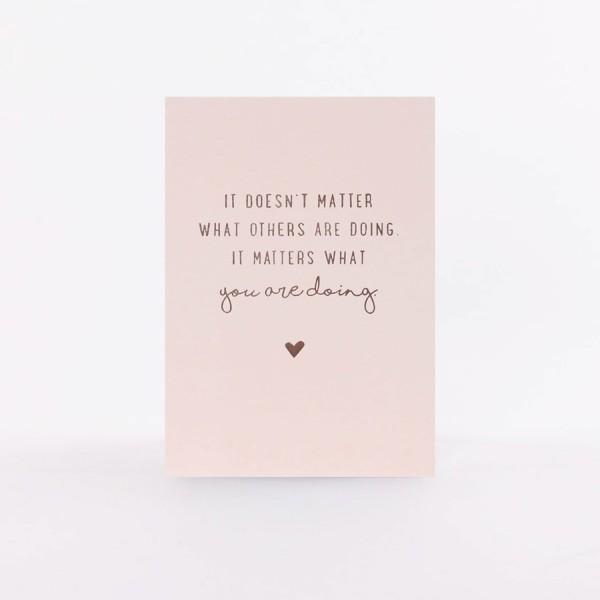 "Postcard ""It Matters"""