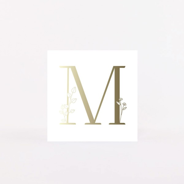 "Letter Postcard ""M"""