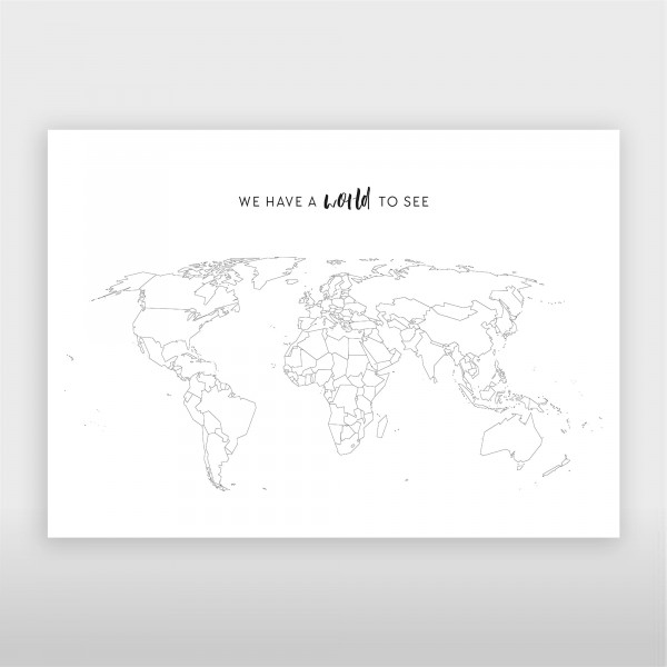 JO & JUDY – World Map Poster with Stickers