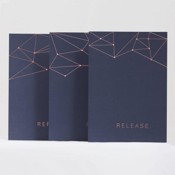 JO & JUDY - Prints Dark Blue - Set of 3