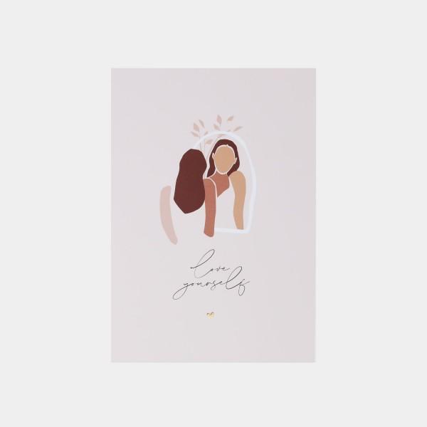 "Postcard ""Love yourself"""