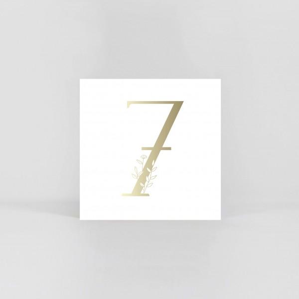 """JO & JUDY – Number Postcard """"7"""""""