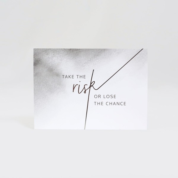 JO & JUDY - Card Grey - The Risk - Front View
