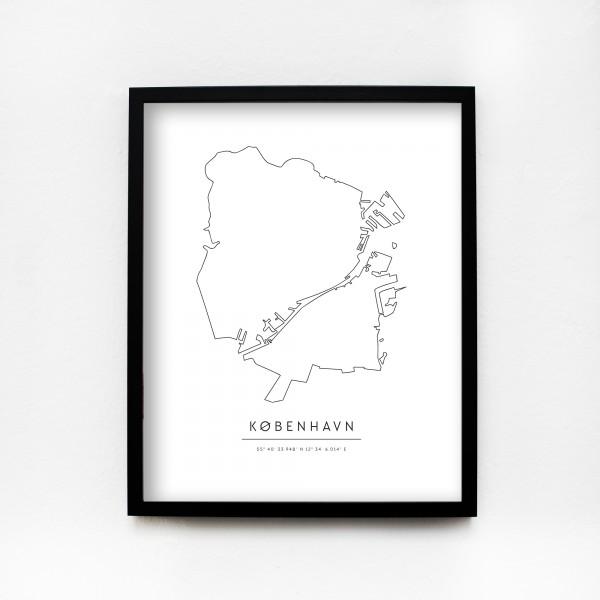 """JO & JUDY – Poster 40x50cm """"København"""""""