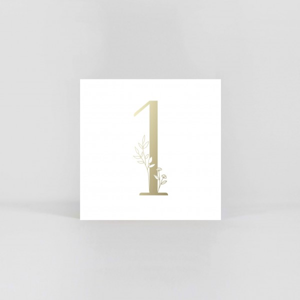"""JO & JUDY – Number Postcard """"1"""""""