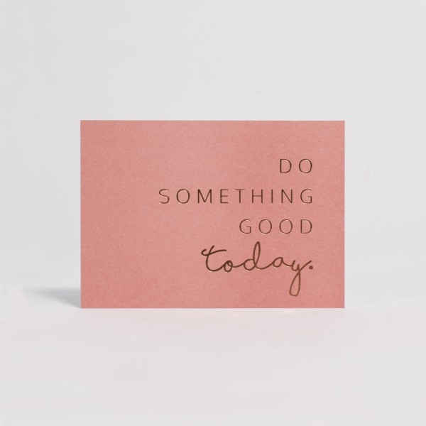 JO & JUDY - Card A6 Pink - Something Good - Front
