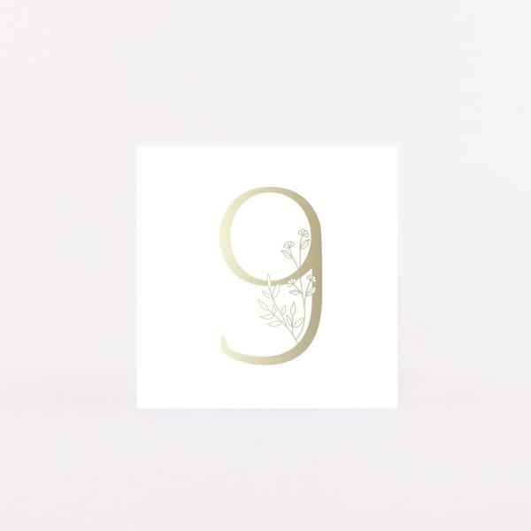 """Number Postcard """"9"""""""