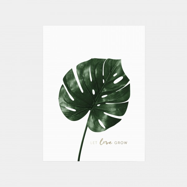 "Print 30x40cm ""Let Love Grow"""