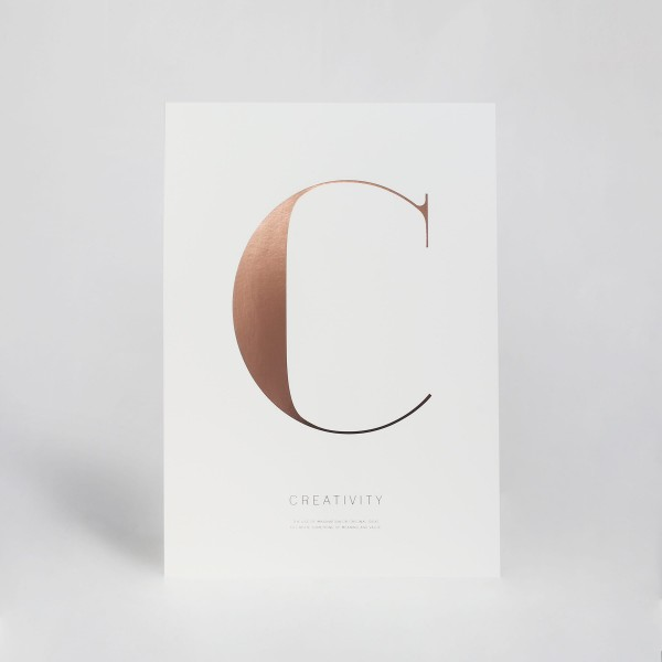 "JO & JUDY - Letter Print ""A"" - Rose Gold - Creativity"