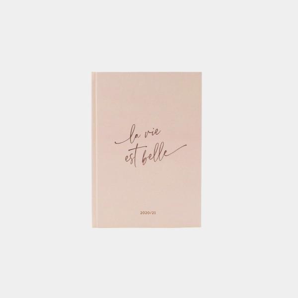 "Calendar 2020/2021 | A5 ""La vie"" Pink"
