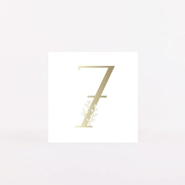 """Number Postcard """"7"""""""